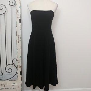 Banana Republic black strapless dress size 4